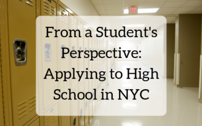 Applying to High School in NYC, from a Student's Perspective
